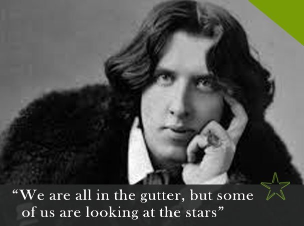 gutter bookshop oscar wilde quote