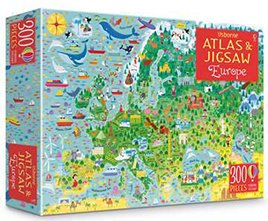 Europe Usborne Atlas and Jigsaw