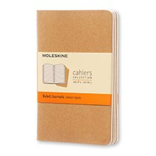 Moleskine Ruled Cahier Kraft Journals
