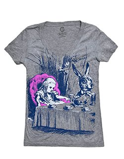 t-shirt alice in wonderland skinny womens