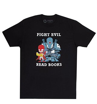 t-shirt fight evil read books unisex