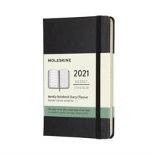 Moleskine 2021 12-Month Weekly Pocket Hardcover Diary : Black