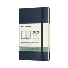 Moleskine 2021 12-Month Weekly Pocket Hardcover Diary : Sapphire Blue