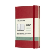 Moleskine 2021 12-Month Weekly Pocket Hardcover Diary : Scarlet Red