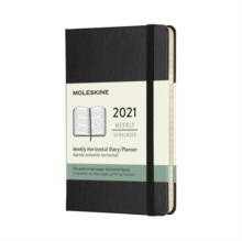 Moleskine 2021 12-Month Weekly Pocket Hardcover Horizontal Diary : Black