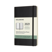 Moleskine 2021 12-Month Weekly Pocket Softcover Diary : Black