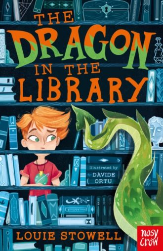stowell dragon in the library